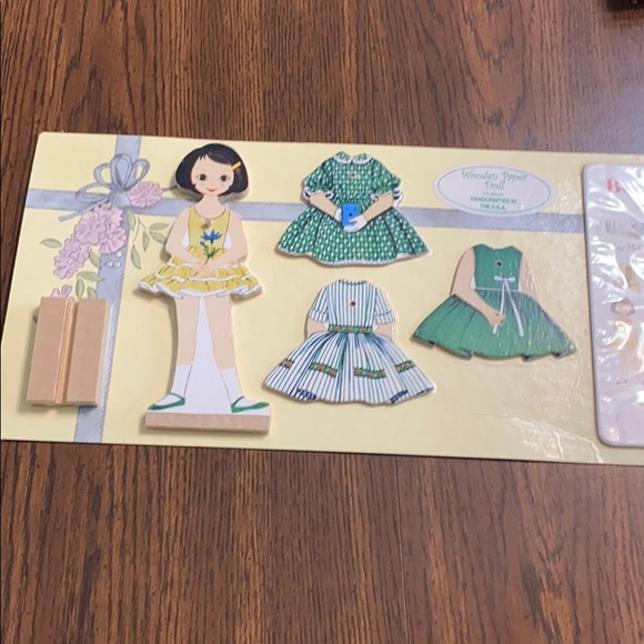 Toys Vintage Betsy Mccall 1950s Wooden Paper Doll Poshmark